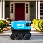 Amazon began field testing of its scout delivery robots