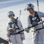 Astronauter udøver månevandringer på overfladen af vulkaner