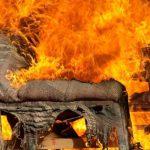 Denne lerplantebelægning er i stand til at redde tingene fra ild.