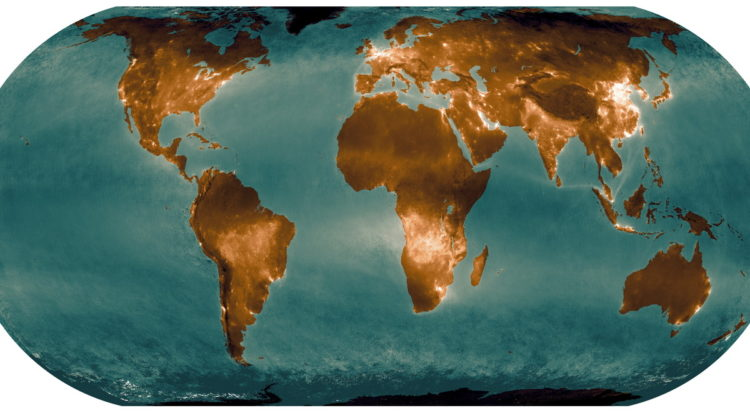 A fresh map of nitrogen dioxide emissions to the atmosphere is