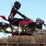 # video | The project of the flying motorcycle Lazareth is real - it has risen to a meter height