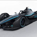 Mercedes-Benz showed its first real racing electric car