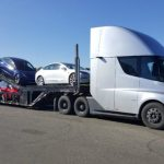 # photo | Tesla truck transports electric cars