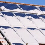 Solar panels can generate electricity using snow.