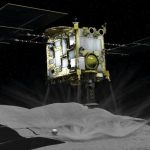 Japanese space agency showed how to drop a bomb on an asteroid