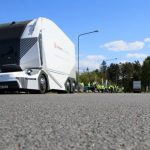 The commercial operation of a fully autonomous electric truck began in Sweden