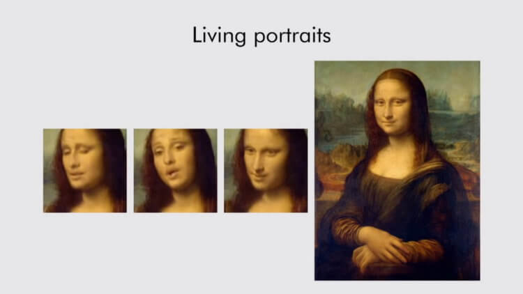 """The neural network was taught to """"animate"""" portraits based"""
