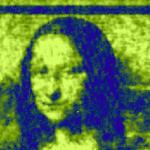 """Australske forskere genskabte en miniature kopi af """"Mona Lisa"""" på et kvante lærred"""