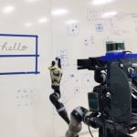 The robot has learned to copy human handwriting and drawings.