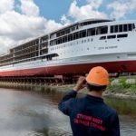 "The first in the post-Soviet time, the tourist liner ""Peter the Great"" was successfully launched"