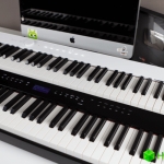 Played on the most compact and high-tech piano. There is even Bluetooth
