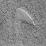 "# photo | On Mars, found the logo of ""Star Fleet"" of ""Star Trek"""