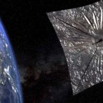 Above the Earth opened a huge sunny sail LightSail 2
