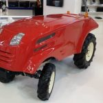 In Russia, showed the first unmanned tractor