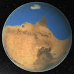 Asteroid impact generated a tsunami of destructive power on Mars