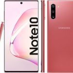 Samsung Galaxy Note 10+ for girls: render in white and pink