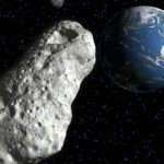 A huge asteroid the size of a skyscraper is flying toward Earth.