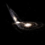 What can the collision of galaxies tell about dark matter?