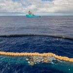 Large-scale project to clean the ocean from plastic debris resumed its work