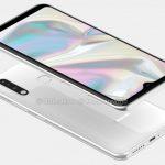 Samsung Galaxy A70e на рендера